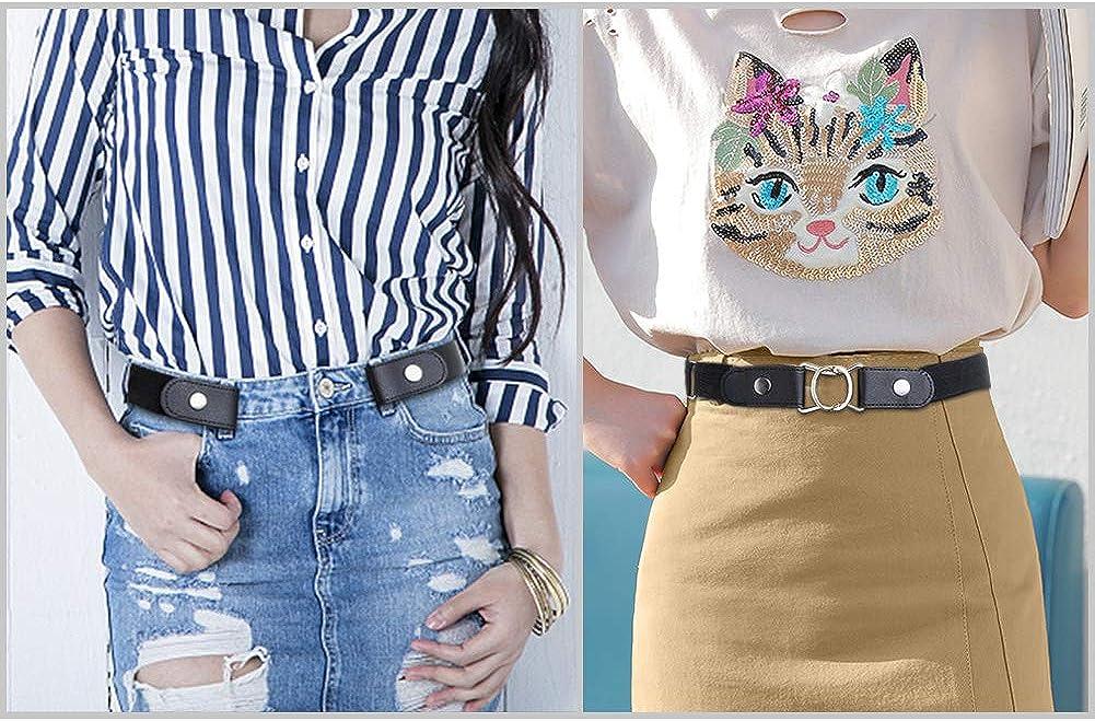 para hombres y mujeres cintura invisible AIM Cloudbed para pantalones vaqueros ajustables Cinturones el/ásticos sin hebillas c/ómodos y el/ásticos