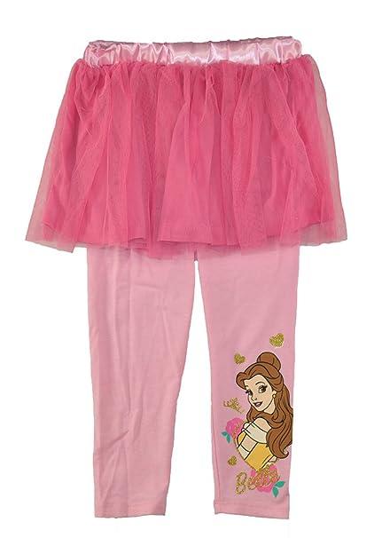 bdef0e5f0625c Amazon.com: Disney Princess Little Girls 2PC Belle Tutu with Legging:  Clothing
