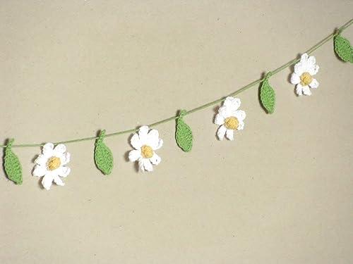 Flower Garland hand crochet with 12 flowers