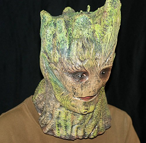 Gmasking Latex Guardians Of The Galaxy Groot Adult Full Head Mask