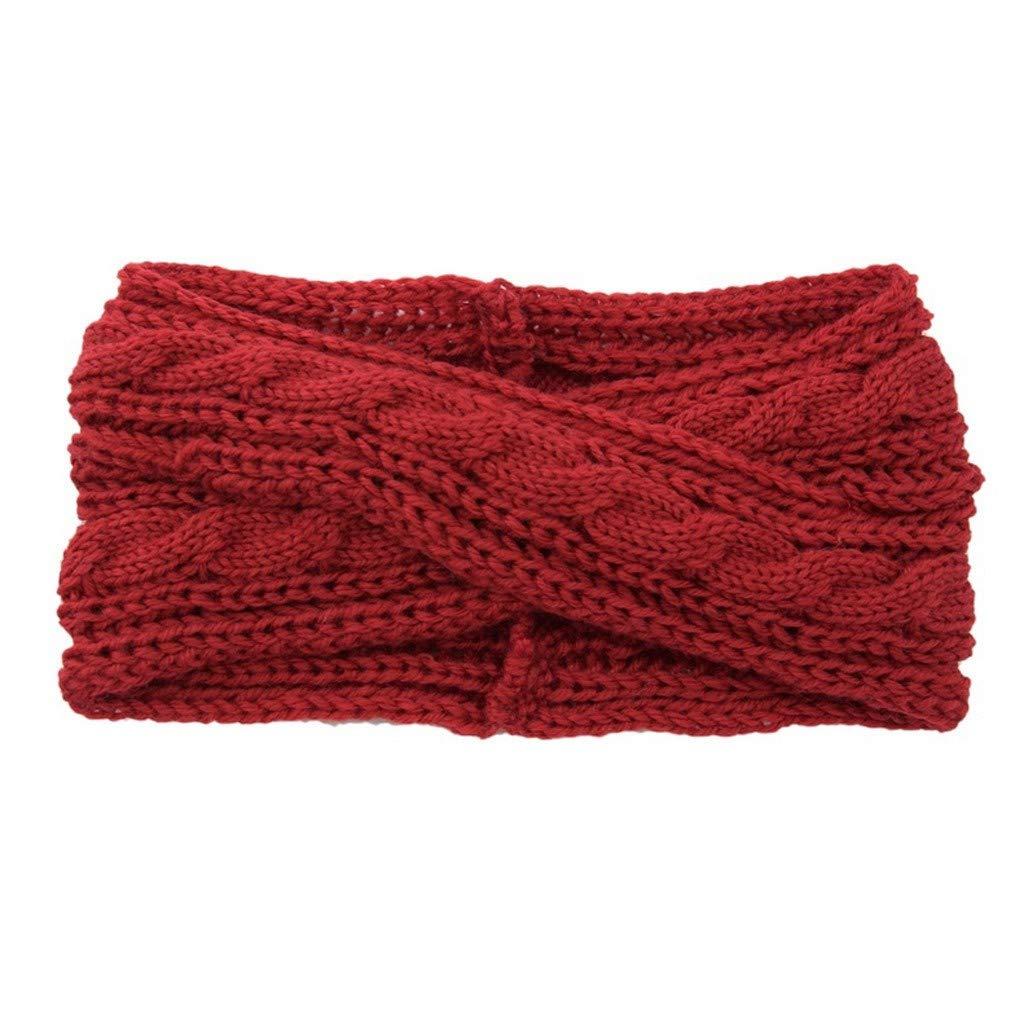NISOWE T/êTe De Laine /à Tricoter Thermique Pour Femme Hairband Sweet Girls Barrette /à Cheveux /Élasticit/é r/étro