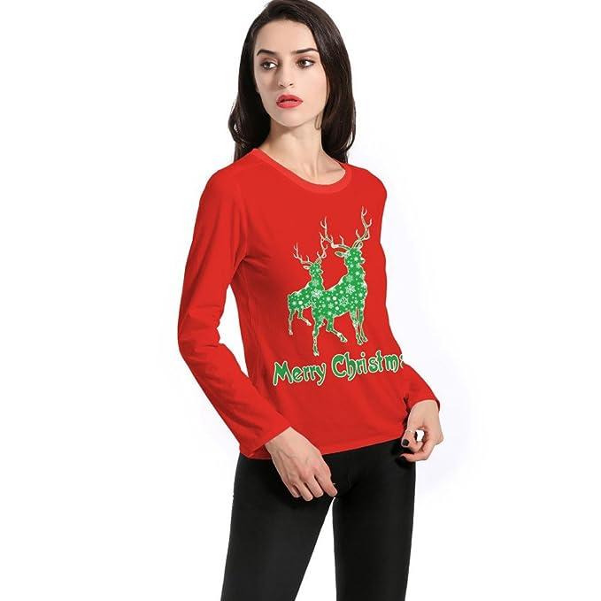 Naturazy Mujeres Cartas Apucha Jersey Tops Sudaderas Blusa Sudadera con Capucha Manga Larga Sudadera con Capucha De Navidad De Santa Claus: Amazon.es: Ropa ...