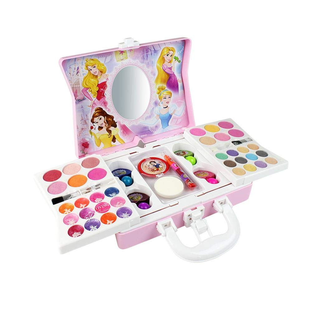 53pcs Disney Cosmetic Kit princess for girl Makeup Toy Ornaments Safe and No Toxic for Girl Practicing Make up Kit Gift