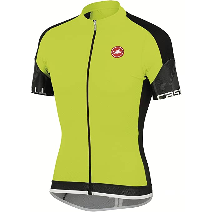 840118a9c Amazon.com   Castelli 2015 Men s Entrada Full Zip Short Sleeve Cycling  Jersey - A14017 (turbulence white - S)   Sports   Outdoors