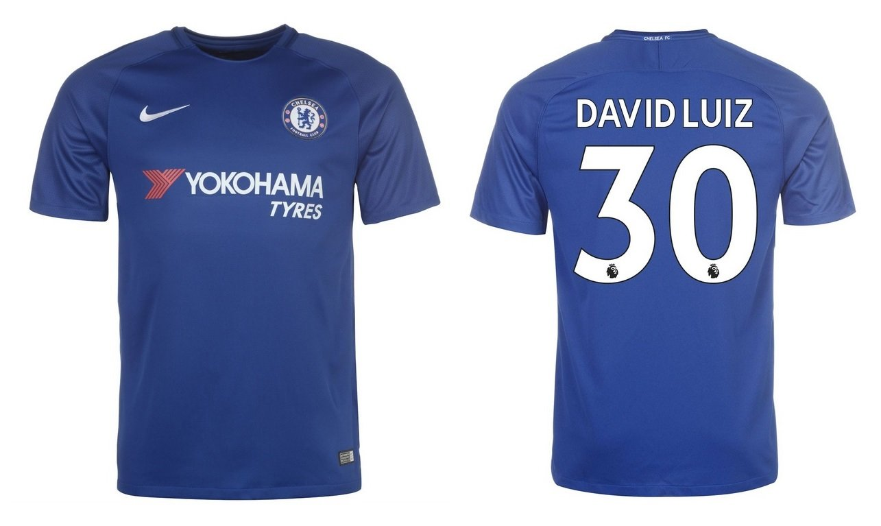 Trikot Kinder FC Chelsea 2017-2018 Home - David Luiz 30