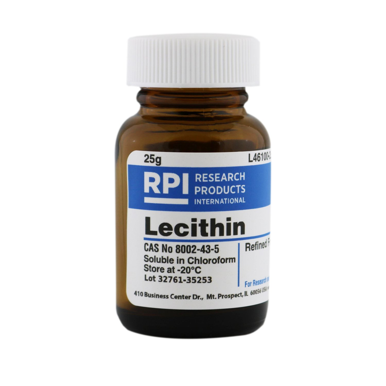 Lecithin, Refined From Soybeans, 25 Grams