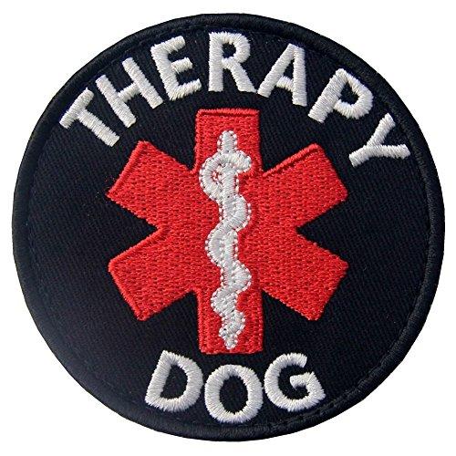 Service Dog EMS Medic Paramedic Star of Life Therapy Dog Vests/Harnesses Emblem Embroidered Fastener Hook & Loop Patch