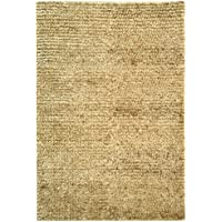 Safavieh Aspen Shag Collection SG640A Handmade White and Beige Wool & Hemp Area Rug (8 x 10)