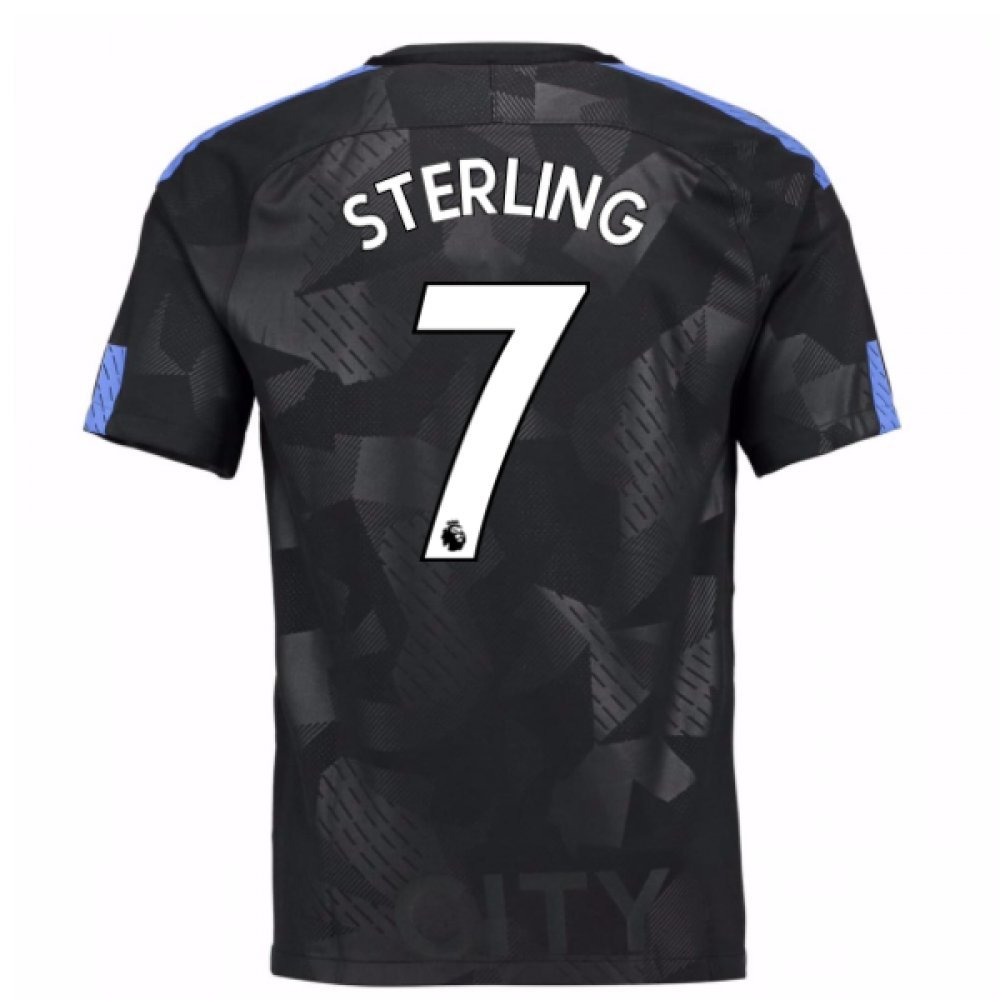 2017-18 Man City Third Football Soccer T-Shirt Trikot (Raheem Sterling 7) - Kids