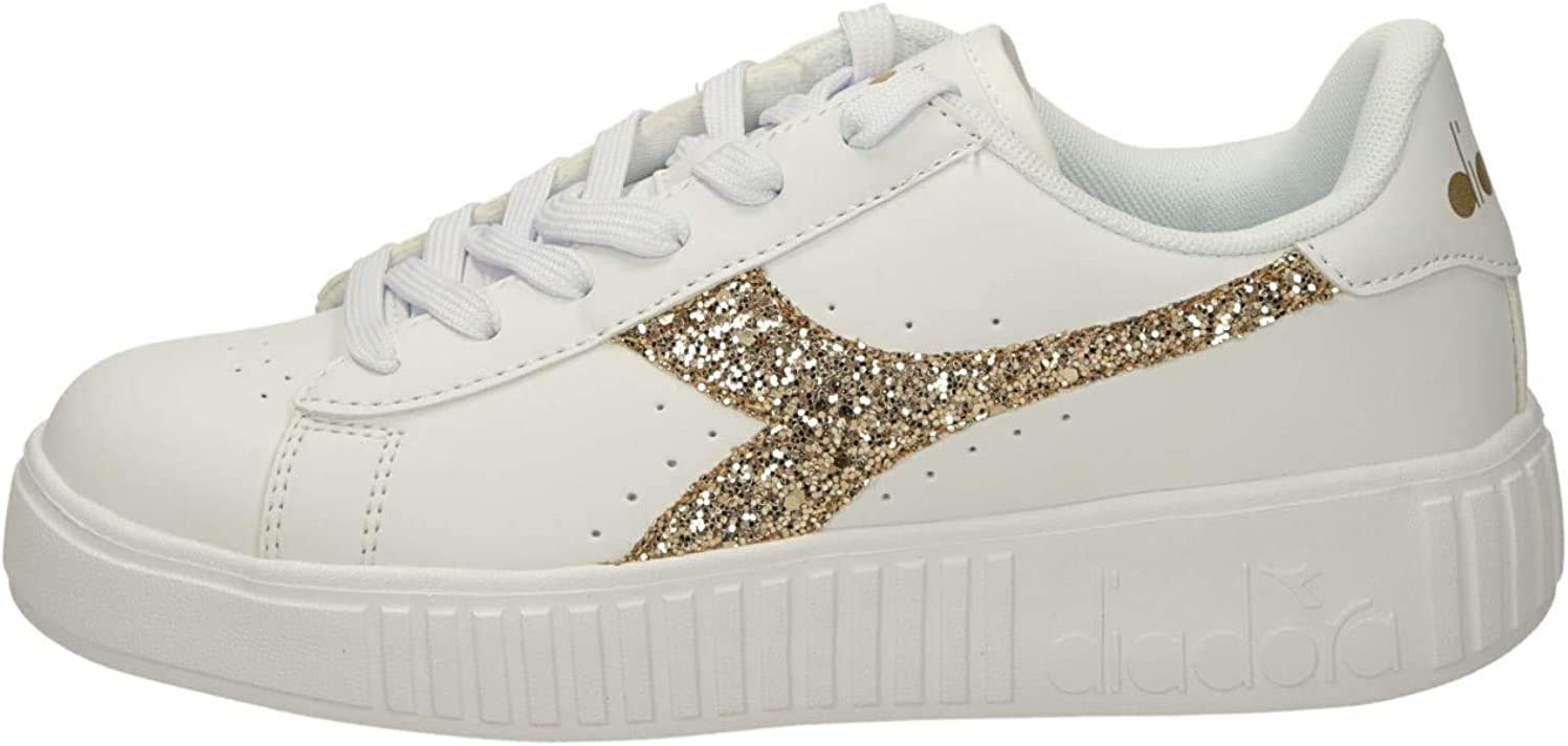 Diadora Game Step GS Sneakers Bianco Oro 175083 C5363 (36 Bianco)