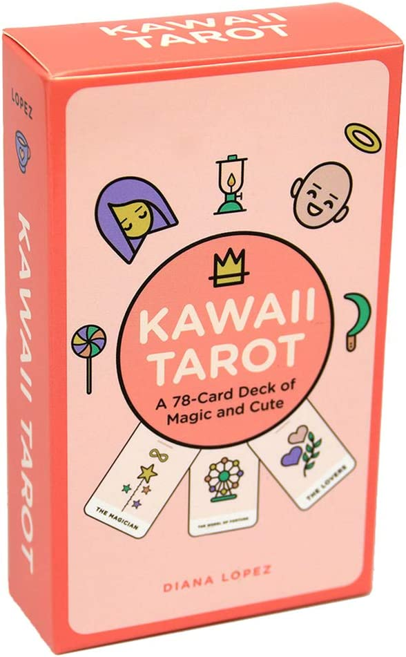 jiheousty Kawaii Tarot 78 Cartas Deck of Magic y Lindo Juego de Mesa de Cartas Oracle en inglés Completo: Amazon.es: Hogar