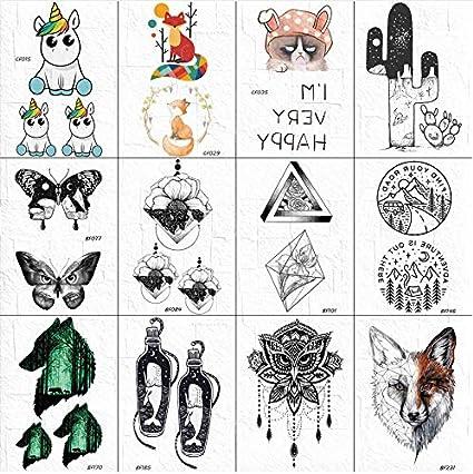 yyyDL Dibujos animados cuerpo brazo tatuaje pegatinas mujeres ...