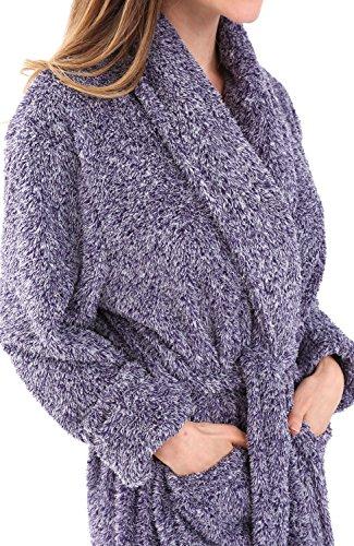 Alexander Del Rossa Womens Fleece Robe, Plush Microfiber Bathrobe, Large XL Two Tone Purple (A0302CDPXL) by Alexander Del Rossa (Image #3)
