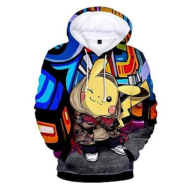 Sudaderas con Capucha para para Niños y Niñas 3D Pikachu Impresión Manga Larga Hoodies: Amazon.es: Ropa y accesorios