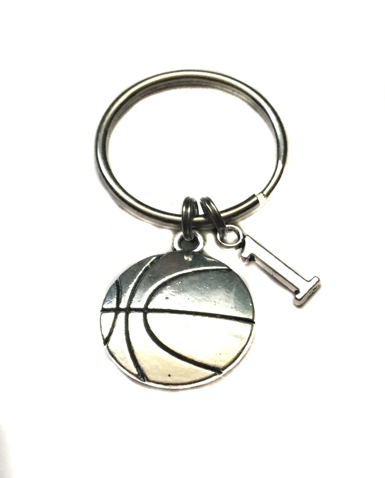 Heart Projects Custom Basketball, Number Charm, Keychain, Sports Bag Charm Parent, Player Gift