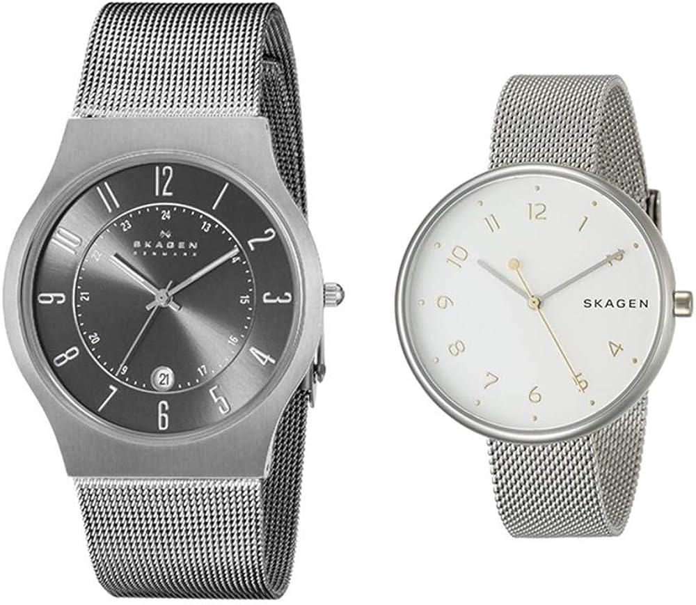 [スカーゲン]SKAGEN ペアウォッチ 収納BOX チタン ステンレス メッシュベルト 233XLTTMSKW2623 腕時計 [並行輸入品]