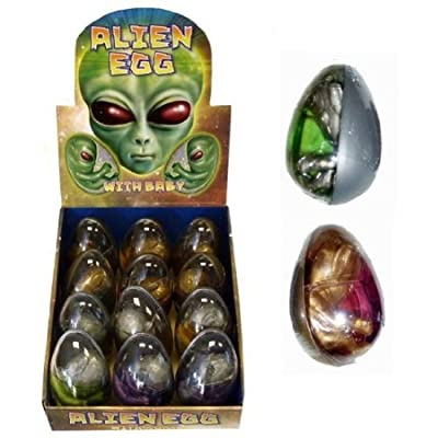 HENBRANDT Alien Egg Stretchy Mixed Colours (one Supplied): Toys & Games