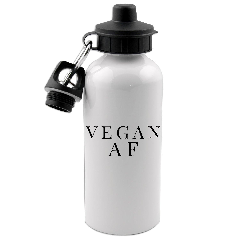 Vegan AF 20 Oz White Aluminum Water Bottle Decal Serpent