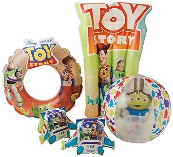 Disney Accesorios Inflables para Piscinas Toy Story 4 con Woody & Buzz Lightyear | Conjunto De Natación 4 En 1 Que Incluye Manguitos para Niños, ...
