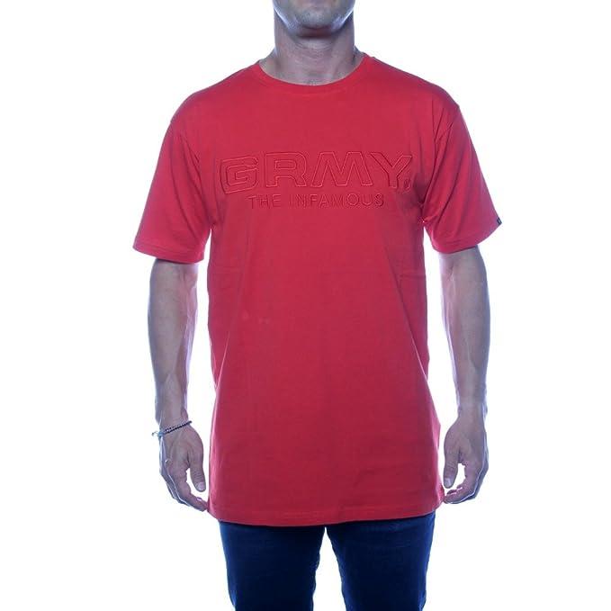 Grimey G Skills Tee - Camiseta para hombre, talla S, color ARED AURA RED