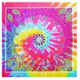 Set of 3 Psychedelic Tie Dye Paisley Bandanna #6 (Set of 3)