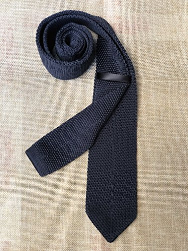 Mens Classic Dark Grey Knit Ties Vintage Woven Casual Stylish Necktie for Gift by Kihatwin (Image #3)