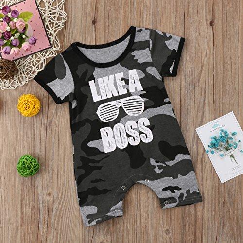 Enhill Funny Toddler Infant Newborn Baby Boys Camouflage Summer Romper Jumpsuit Short Sleeve Playsuit