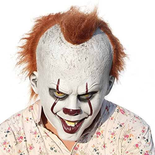 Scary Clown Mask Joker Cosplay Costume Latex -