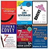 img - for Happiness advantage, drive, life leverage, 7 habits of highly effective people and teens and personal workbook 6 books collection set book / textbook / text book