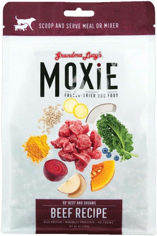 Grandma Lucy's Moxie Freeze-Dried Beef Dog Food 8oz