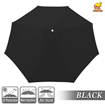 Strong Camel Replacement Canopy Cover for 10' Cantilever Patio Umbrella Offest Parasol Top Cover (Black): Kitchen & Dining