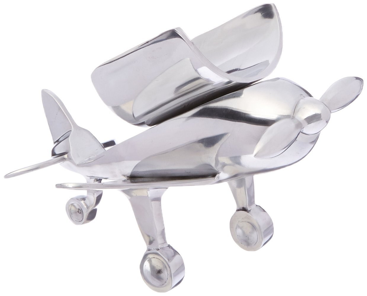 GODINGER SILVER ART Airplane Bottle Holder, Silver by Godinger