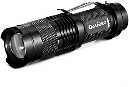 INFRAY Bright Rechargeable Water-Resistant Zoomable LED Torch Camping Flashlight