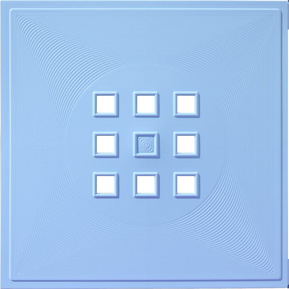 33,6 x 33,6 cm babyblau Fachgr/ö/ße ca Stilvolle Regalt/ür f/ür Babyregale