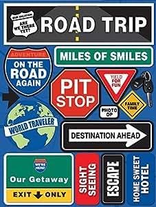 Reminisce Signature Series Dimensional Cardstock Stickers, Road Trip