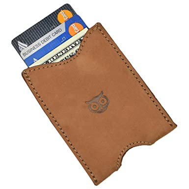the latest 24c42 2cb41 Rustic Leather Pocket Sleeve Wallet Card Holder Handmade by Hide ...