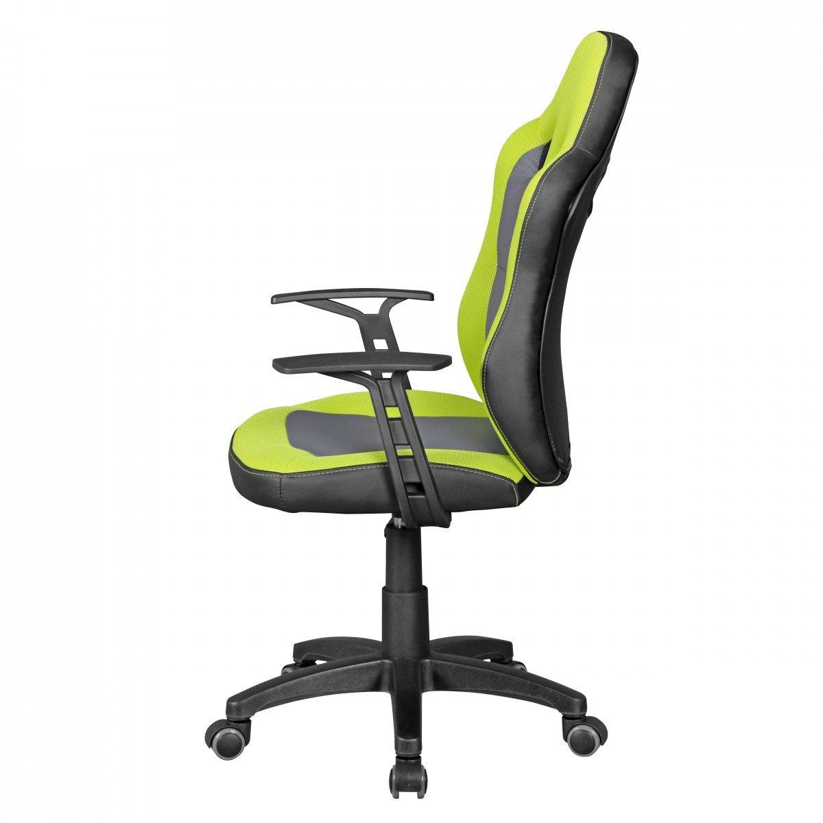 Amstyle Speedy Kinder-Schreibtischstuhl für Kinder ab 8, grün/grau ...