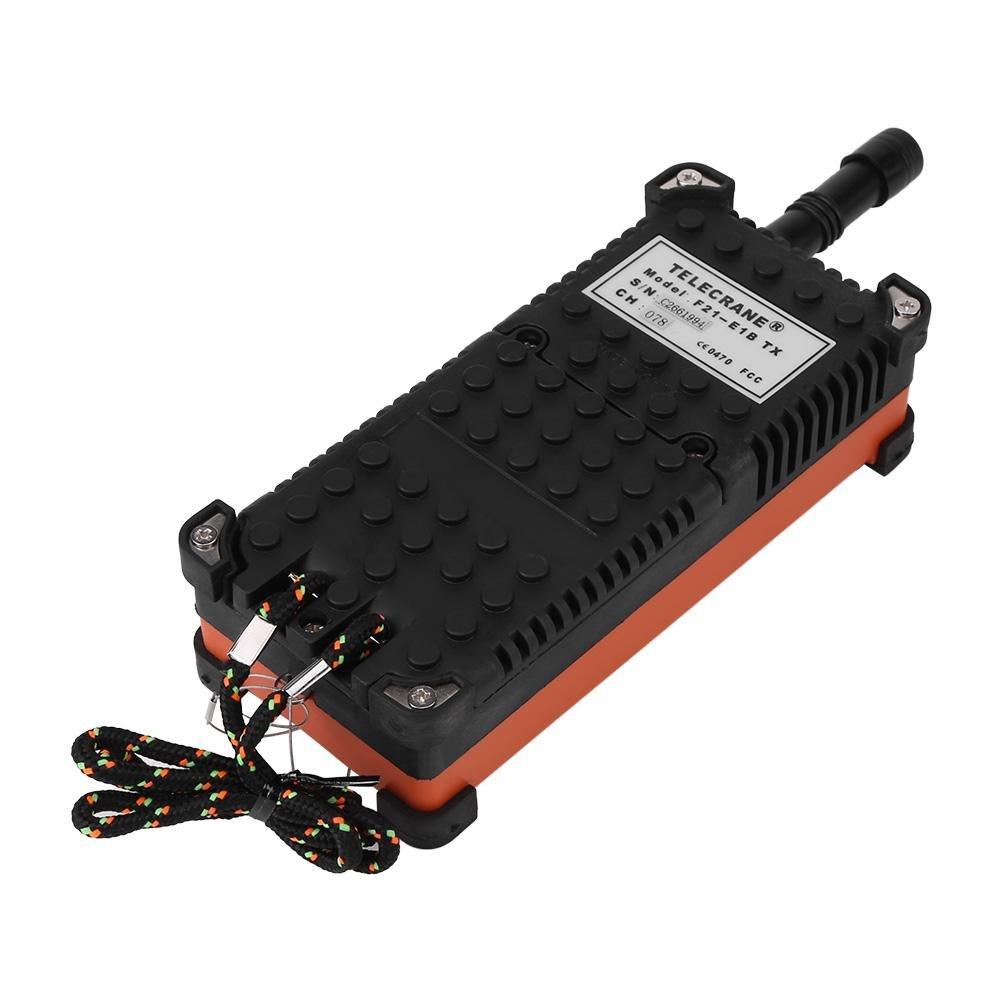 Wandisy Mando a Distancia del polipasto Sistema de Control Remoto y Receptor del Sistema de Radio Control de Velocidad de 1 Bloque de la Corona del polipasto (24 VCC)
