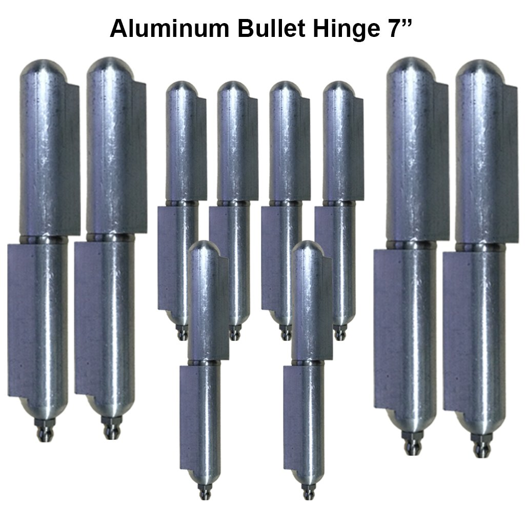 Lot 5 Driveway Aluminum 7'' heavy duty gate hinges Stainless Steel Bushing & pin