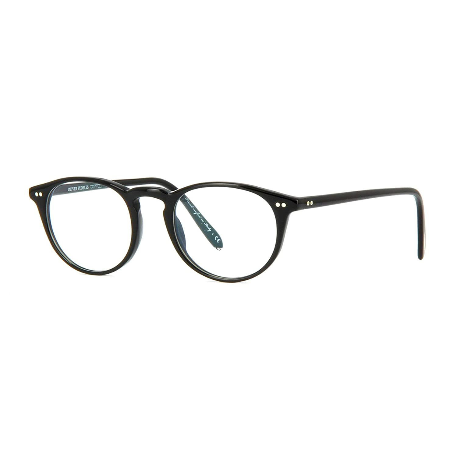 3827a3c158 Amazon.com  Oliver Peoples 5004 Riley R Eyeglasses 1005 Black with Clear  Demo Lenses  Shoes