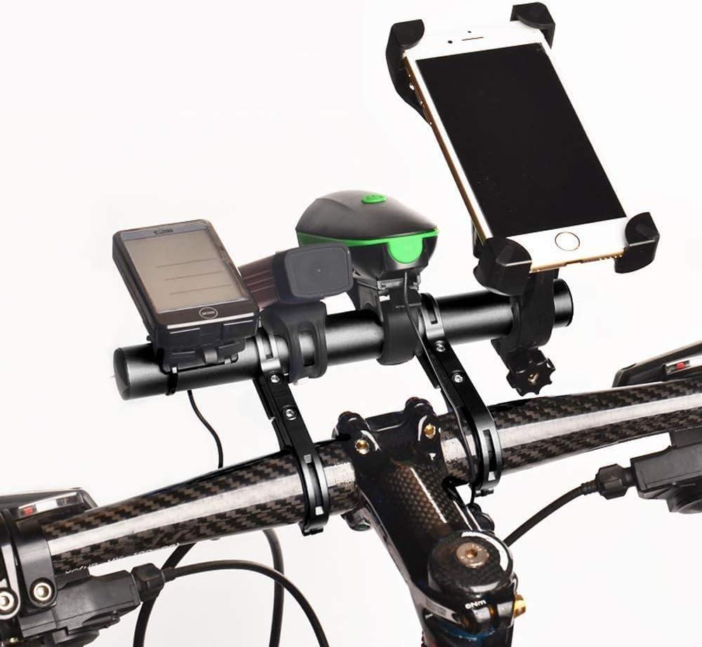 20cm Multifunzione Doppio Bicicletta Manubrio Extender Lega di alluminio GPS Telefono Tachimetro Prolunga Staffa con cacciavite accessori bicicletta Prolunga Manubrio Bici Estensione Manubrio Bici