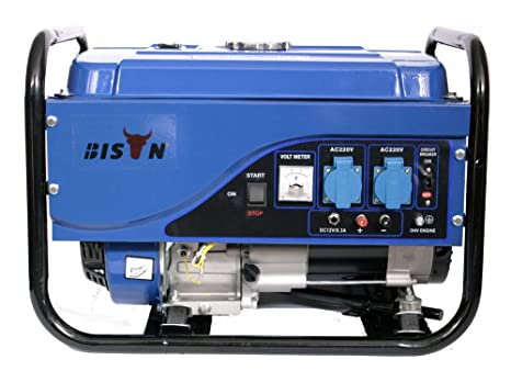 Bison Generador electrico de Gasolina 3 Kw Grupo electrogeno Motor 4T DC 220V AC 12V