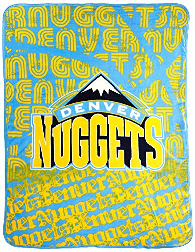 The Northwest Company Officially Licensed NBA Denver Nuggets Redux Micro Raschel Throw Blanket, 46
