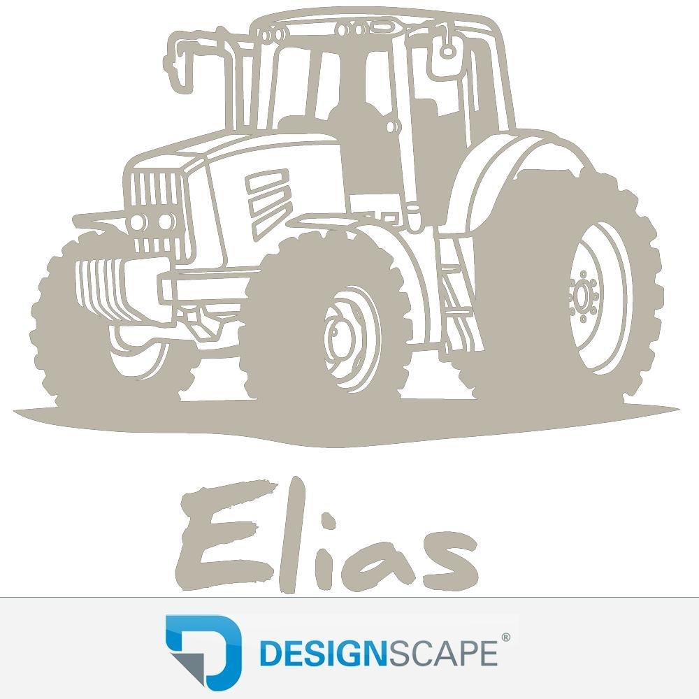 DESIGNSCAPE® Wandtattoo Traktor mit Wunschname     Wandtattoo Junge Kinderzimmer 90 x 60 cm (Breite x Höhe) schwarz DW808182-M-F4 B072BY577C Wandtattoos & Wandbilder 075bc8