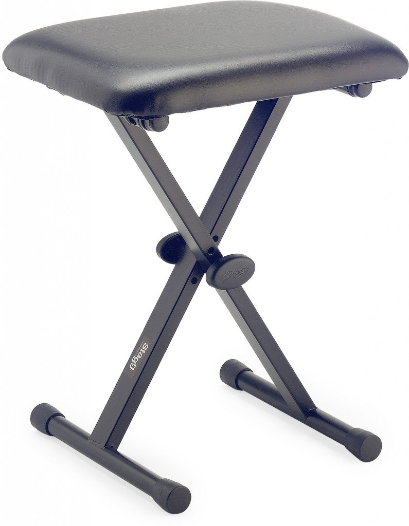 Stagg KEB-A30 Keyboard Bench with X Style Folding Legs