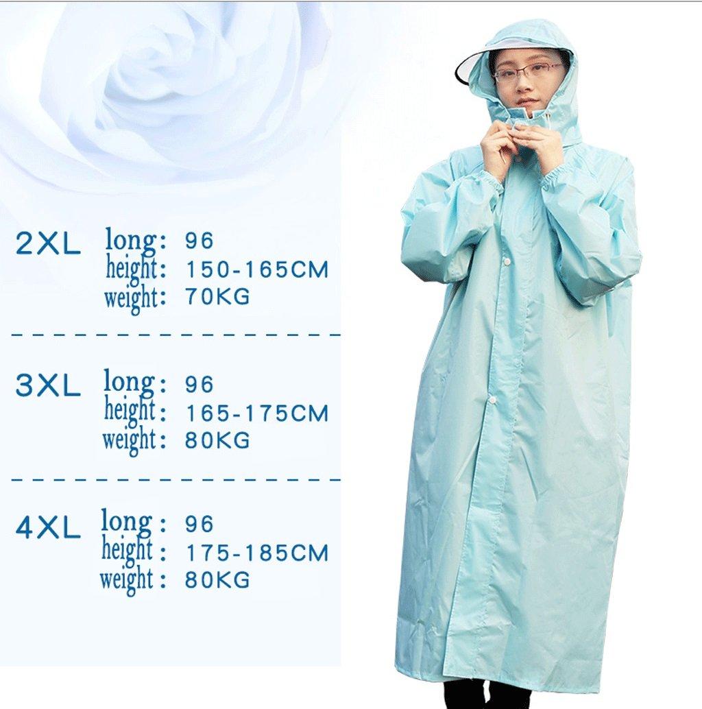 Zcx Impermeable Señoras Impermeable Impermeable Al Aire Libre para para para Adultos Al Aire Libre Senderismo Poncho Impermeable Impermeable Impermeable Largo Impermeable (Color : Azul Claro, Tamaño : XXL) d4a7cc