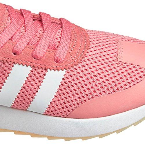 adidas Women's Flashback Sneaker Low Neck, Black, 5 Pink (Rostac / Griper / Gum4)