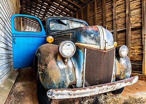 Home Comforts Canvas Print Auto Barn Transportation Vintage Old Vehicle Car Vivid Imagery Stretched Canvas 32 x 24
