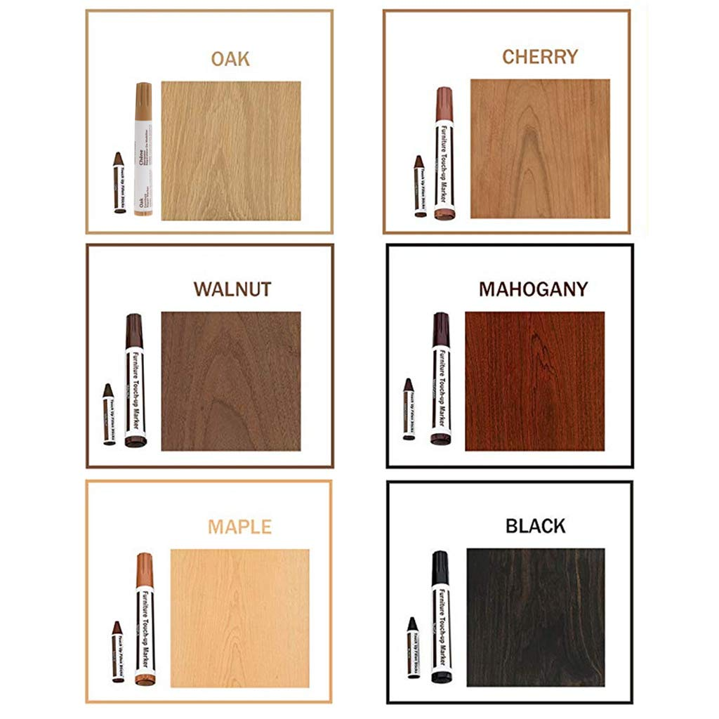 Oak huanban072 Furniture Repair Wood Cabinet Floor Touch Up Markers Scratch Filler Remover Painting Pen Fix it