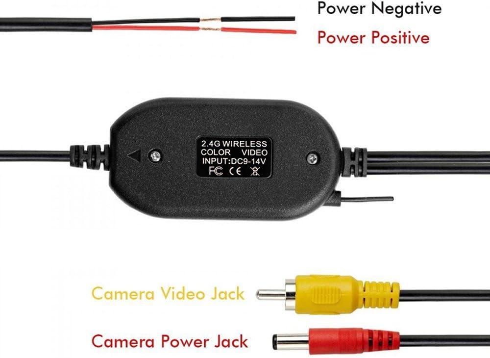 Kalakass 2 4ghz Wireless Video Rückfahrkamera Rca Video Sender Empfänger Kit Für Auto Rückfahrkamera Monitor Empfänger Cam Dvd Gps Autoradio Player Modul Adapte Trigger Auto